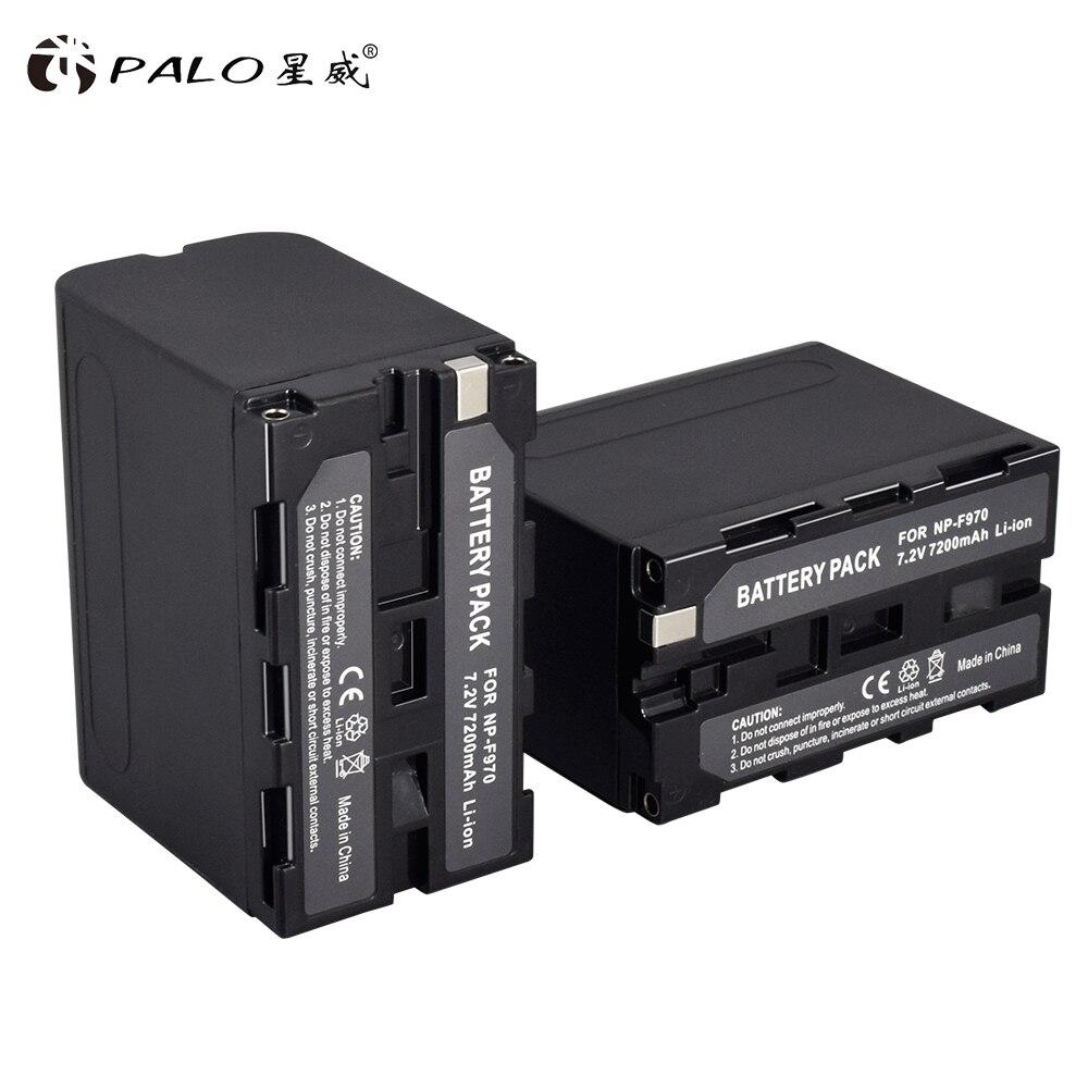 PALO 2 pièces 7.2 V 7200 mAh NP-F960 NP-F970 Batterie pour Appareil Photo Numérique Sony NP-F960 NP-F970 NP F970 NP F960 Batteria