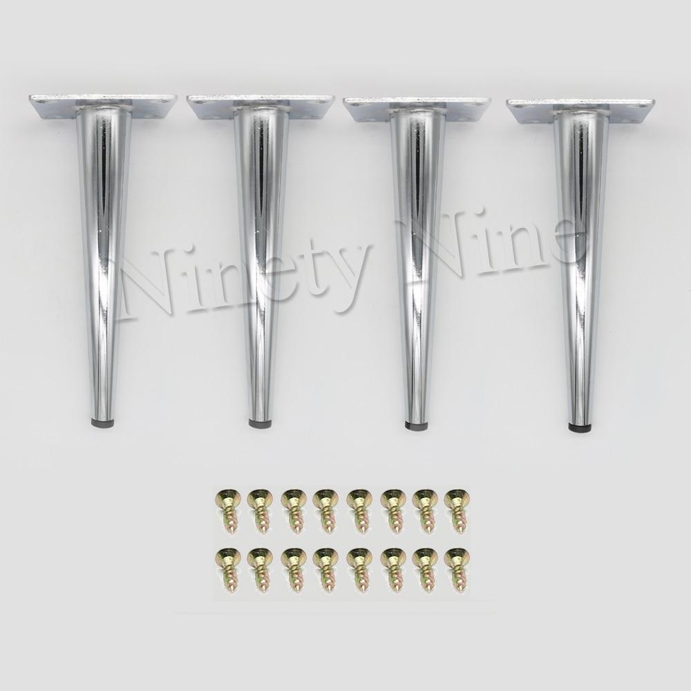 4x Cabinet Legs Kitchen Feet Worktop/Unit/Breakfast Bar/Desk Table Legs Furniture Legs -  Metal  80*190MM
