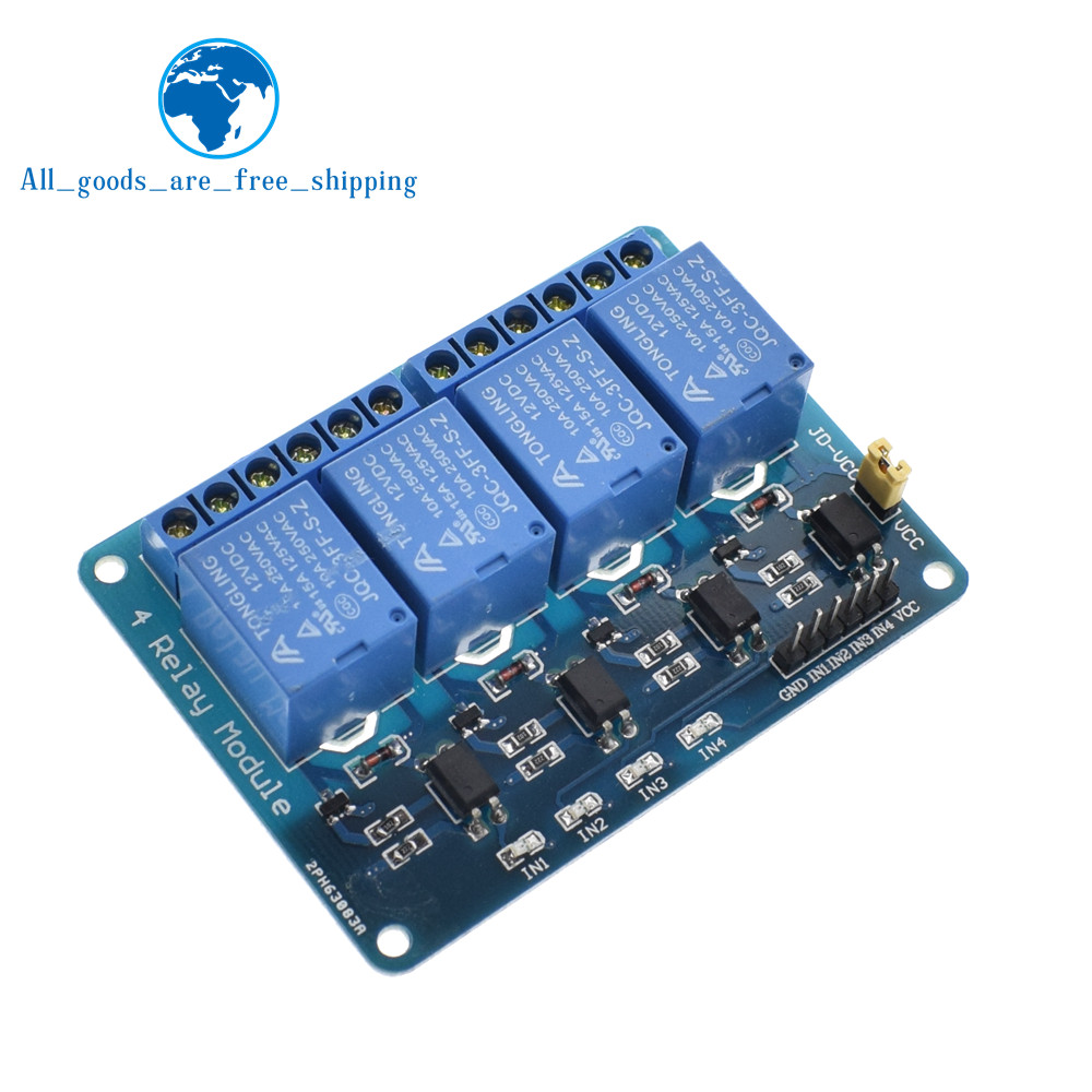 TZT 1pcs 5v 12v 1 2 4 6 8 channel relay module with optocoupler. Relay Output 1 2 4 6 8 way relay module for arduino In stock 22