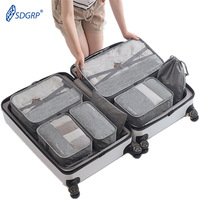 7 Pcs/Set Large Capacity Luggage Travel Bag Ladies Clothes Underwear Sorting Organizer Portable Packaging Cube Tote Accessories