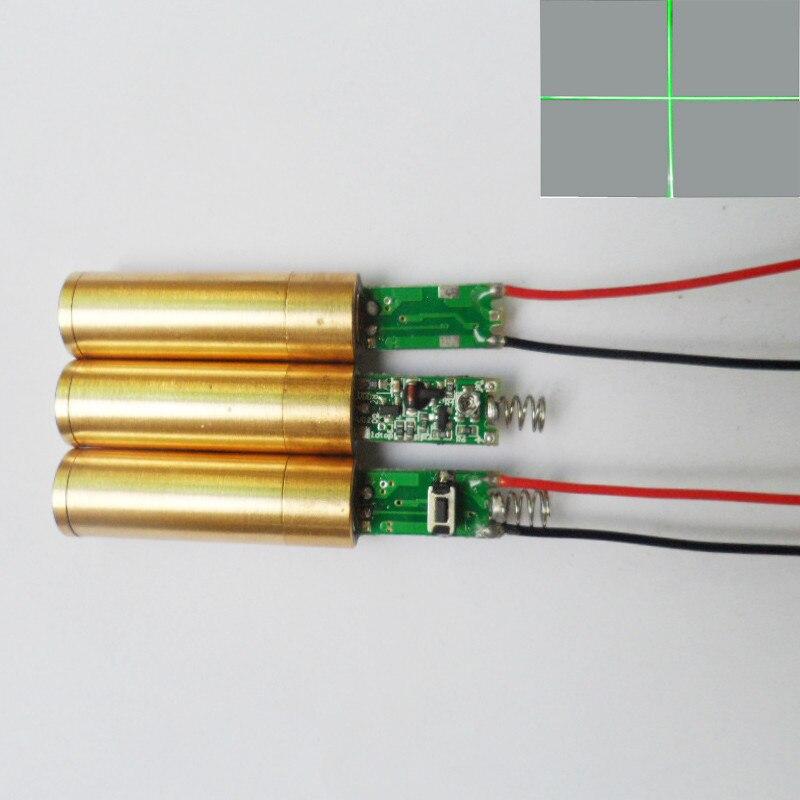Cross line laser head laser marking instrument lamp module laser marking cross tube 200MW