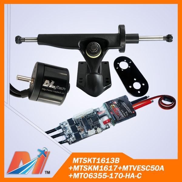 Maytech 4pcs electric skateboard Promotion motor 6355 brushless \/ motor mount \/ truck