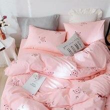 Милая розовая Свинка», Комплект постельного белья для подростков, детей, близнец полный queen хлопок мультфильм один двойной домашний текстиль простыня наволочка чехол пододеяльник