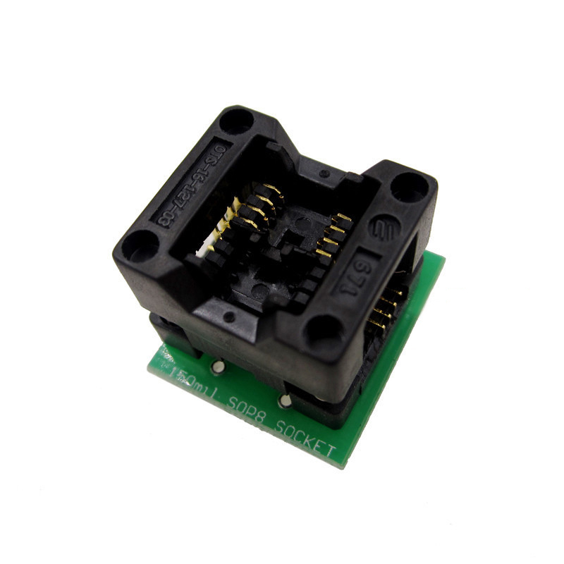 1pcs 150mil/200mil Socket Converter Module SOIC8 SOP8 to DIP8 EZ Programmer Adapter sop8 to dip8 programming adapter socket module black green 150mil