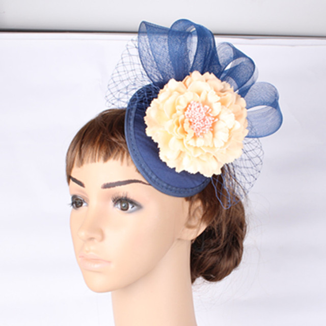 4baec56a1880b 2018 New Style party silk flower headwear with fascinator base hat wedding  hair accessories occasion hats