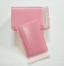 Ücretsiz kargo 50 adet kullanılabilir alan 13x20 + 4cm açık pembe poli kabarcık mailler zarflar yastıklı posta çanta kendinden sızdırmazlık