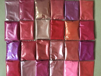 Kosmiczne 24 różowe kolory proszek miki zestaw pigmentów do makijażu cieni do powiek nail art produkcji mydła tanie i dobre opinie Zestaw do makijażu Folk Art China DIY decoration mixed simulation China (Mainland)
