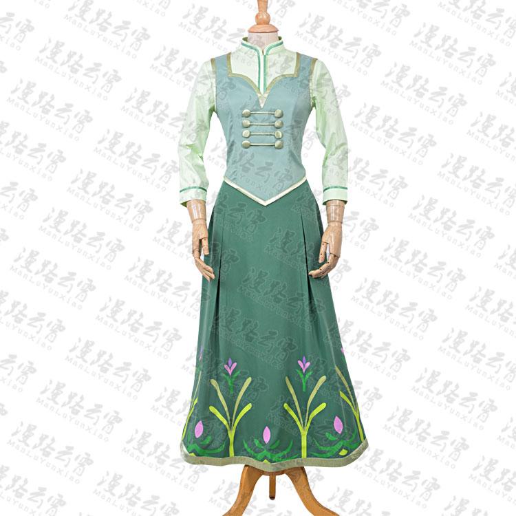 5402b8c8ce Lód Śnieg Księżniczka Anna Cosplay Kostium Halloween Party Dress Kamizelka  + Koszula + Spódnica