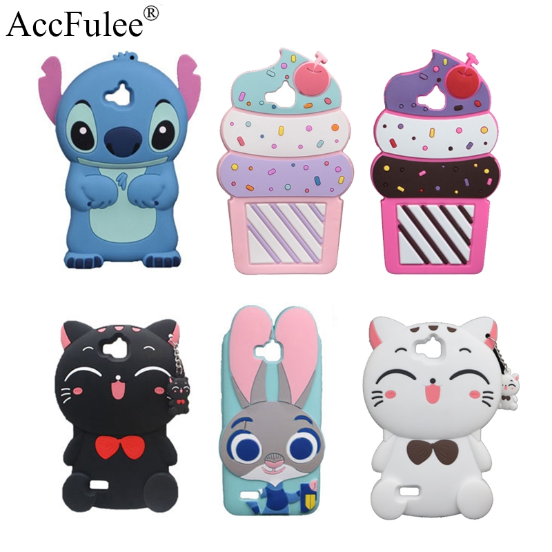 3D Cute Animals Stitch Silicon Case For Huawei Honor Y6 Pro/4C Pro/Enjoy 5/Honor Holly 2 Plus TIT-AL00 Y6Pro TIT-U02 Cat Cover