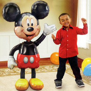 112cm Giant Minnie Mickey Mouse foil Balloon Cartoon birthday party decorations kids adult Wedding Baby shower baloon Toy globos(China)