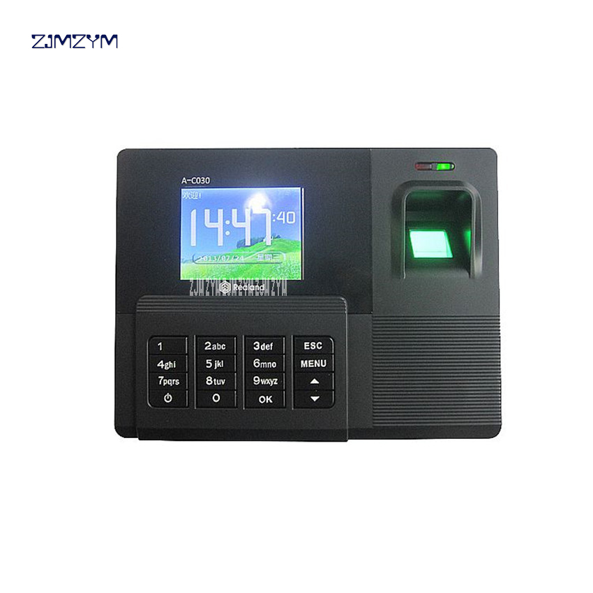 A-C030 fingerprint attendance punch card machine Biometric Fingerprint Time Attendance TCP IP TFT Energy-Saving Recorder Clock biometric fingerprint access controller tcp ip fingerprint door access control reader