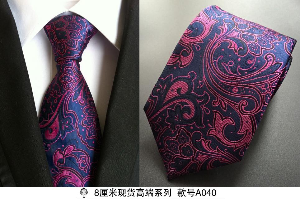 Sıcak paisley kravat mens% 100% ipek kravat tasarımcılar için - Elbise aksesuarları - Fotoğraf 3