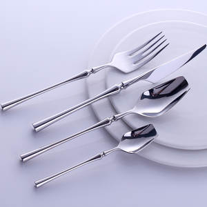 Dinnerware-Set Travel Luxury-Handle Portable 304-Stainless-Steel Knife-Fork Western 24pcs
