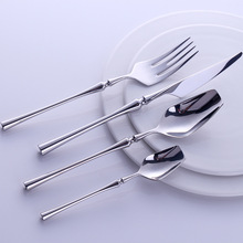 Западный портативный набор столовых приборов путешествия 24 шт. 304 столовая посуда из нержавеющей стали набор с Роскошная ручка нож вилка ужин набор посуды