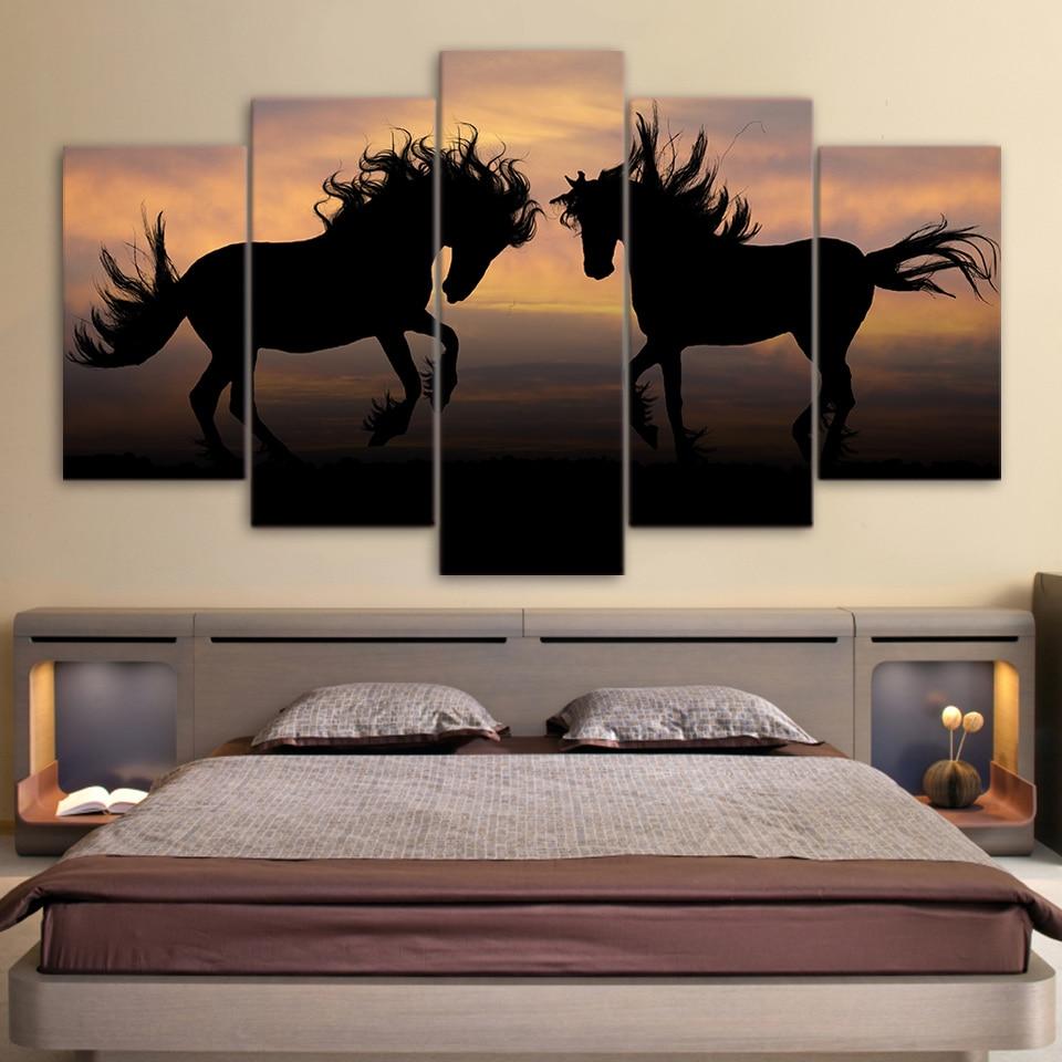 ୧ʕ ʔ୨5 cuadros lienzo cuadros Sala marcos pared marco Galloping ...