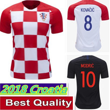 Hot sale 2018 World Cup best quality Croatiaes Soccer Jerseys MODRIC  MANDZUKIC RAKITIC Home Away Football Shirts Free shipping 7c69edb8c