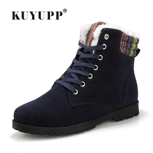 Men Boots Snow Boots Men Fashion Men's Winter Shoes  Suede Rubber Boots Pu Leather Warmer long boots botas hombre size39-44 H131