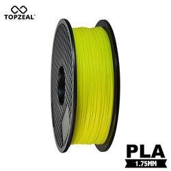 TOPZEAL 3D Filament PLA świecące w ciemności żółty kolor plastikowy Filament do drukarki 3D 1.75mm 1KG szpula