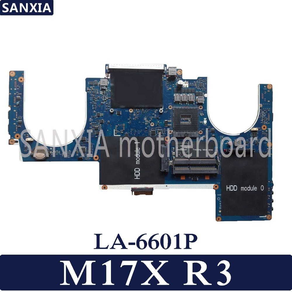 KEFU PAR00 LA 6601P Laptop motherboard for Dell Alienware M17X R3 Test original mainboard