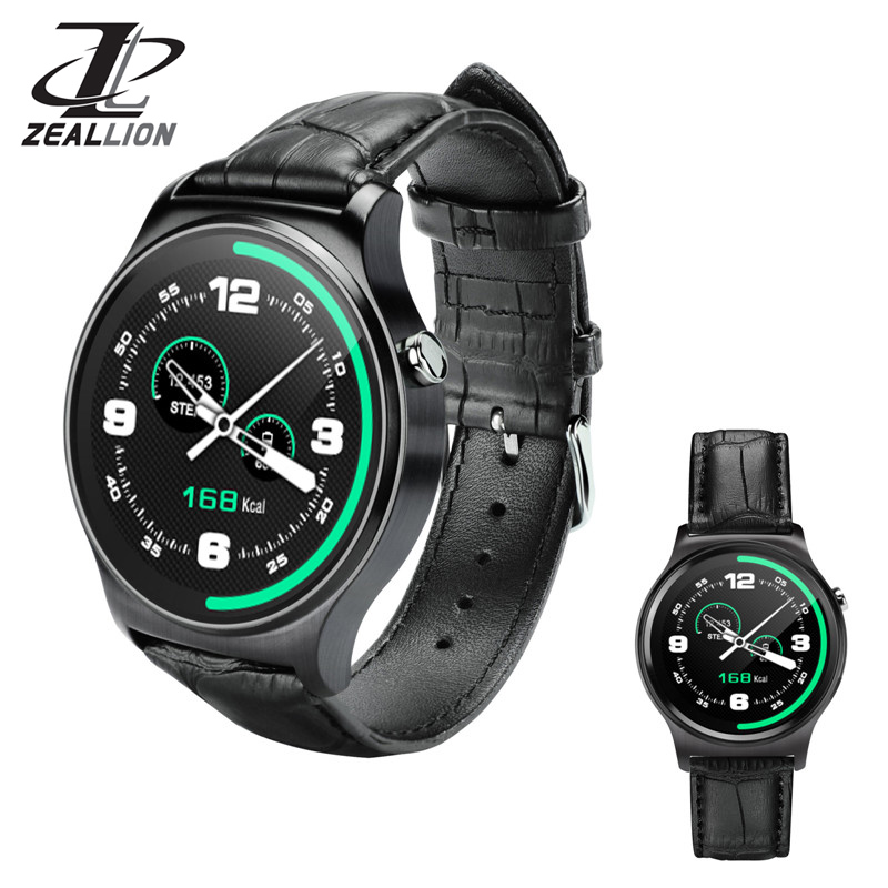 ZEALLION Smart Watch GW01 Clock Sync Notifier Support Bluetooth 4.0 Connectivity for iphone Android iOS Phone Smartwatch