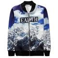 Alisister New Fashion men/women 3d Jacke Print Earth English letter/Clouds/snow Harajuku Jackets Clothing Winter Zipper Coat