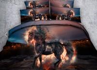 Horse Bedding set 3D Comforters duvet cover bed in a bag sheet linen quilt doona bedspread Super King Queen size full twin 5PCS
