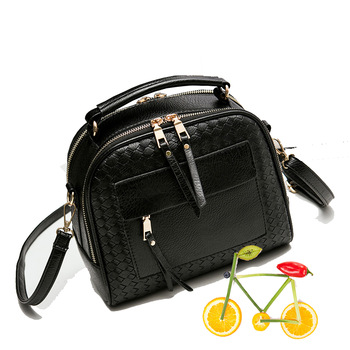 2017 Top-Handle Bags black fashion tote bags retro vintage knitting doctor women