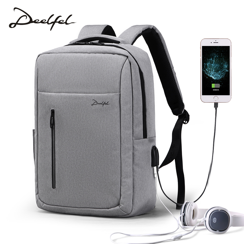 DEELFEL Laptop Backpack Anti Theft Travel Computer Bag for Women & Men USB Charging Port Fit 15.6 inch Laptop College School Bag men backpack anti theft multifunctional oxford fashion college student school backpack password lock laptop computer bag