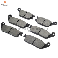 6 Pcs Semi Metallic Motorcycle Front Rear Disc Brake Pads Case For HONDA VTX 1300S VTX1300