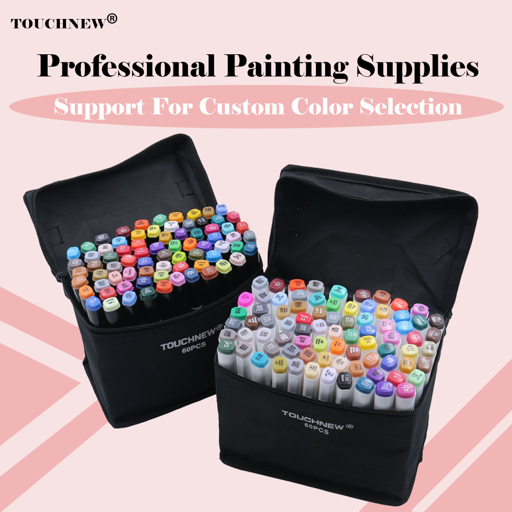 TOUCHNEW 60/80/168 Colors Markers Pen Set Painting Drawing Manga Art Marker Set For School Sketch Markers brush pen art suppliesTOUCHNEW 60/80/168 Colors Markers Pen Set Painting Drawing Manga Art Marker Set For School Sketch Markers brush pen art supplies