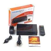 Receptor de satélite USB Wi-fi tv set top box receptor de tv Via Satélite 1080 P Full HD DVB-S2 + T2 V7 FREESAT COMBO Full speed