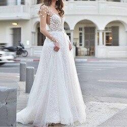 Biały Sexy prześwitująca Sukienka elegancka z długim rękawem kobiety odzież Vestidos szata Femle długa Sukienka Kleider Sukienka moda ubrania 1