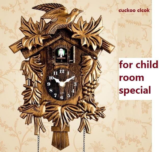 कोयल घड़ी लिविंग रूम दीवार घड़ी बर्ड कोयल अलार्म घड़ी घड़ी आधुनिक संक्षिप्त बच्चे गेंडा सजावट होम डे टाइम अलार्म