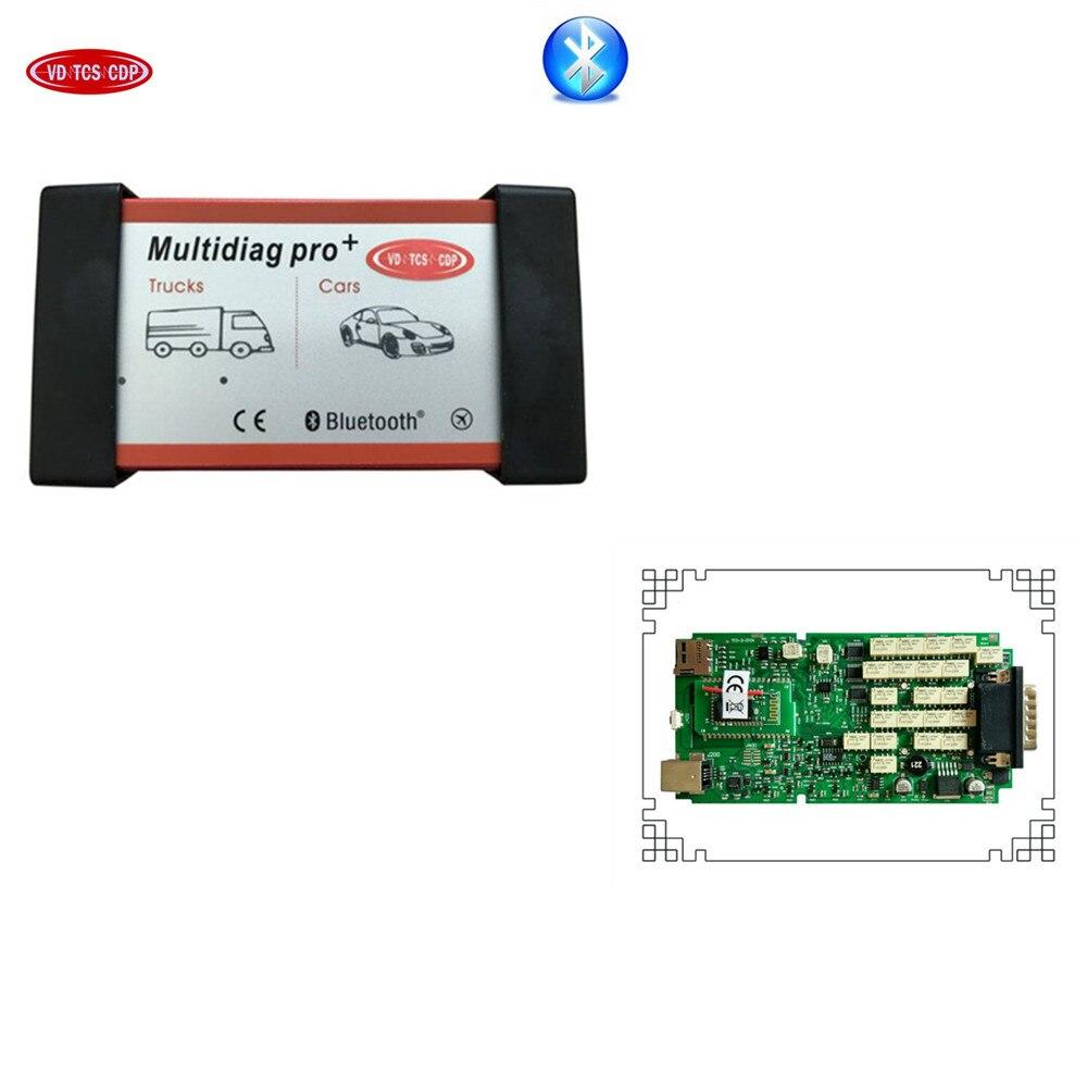 5 pcs/lot DHL qualtiay Un + seul pcb conseil avec ne c relais multidiag pro plus Bluetooth multidiag pro +