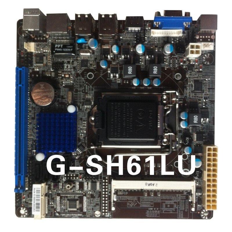 machine wibtek ultra thin mini itx board G SH61LU 100 tested perfect quality