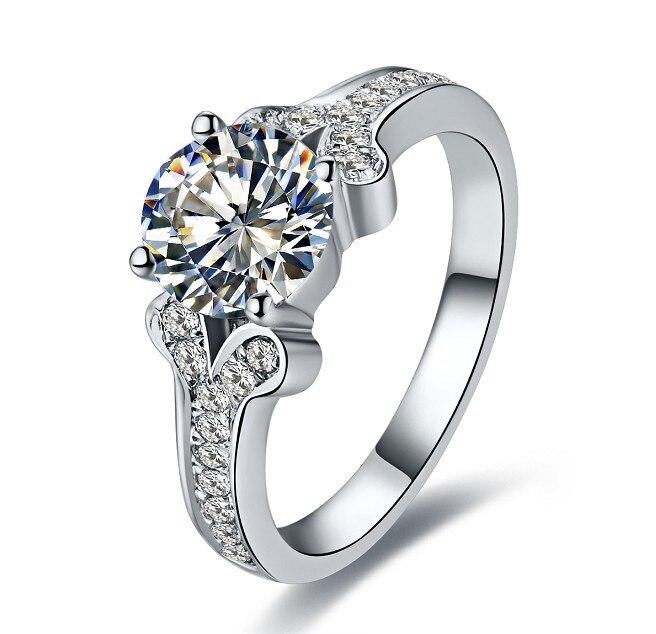 CHARLES & COLVARD 1CT Moissanite ślub pierścień dla pani Sterling srebrny pierścień trwać wiecznie w Pierścionki od Biżuteria i akcesoria na  Grupa 1