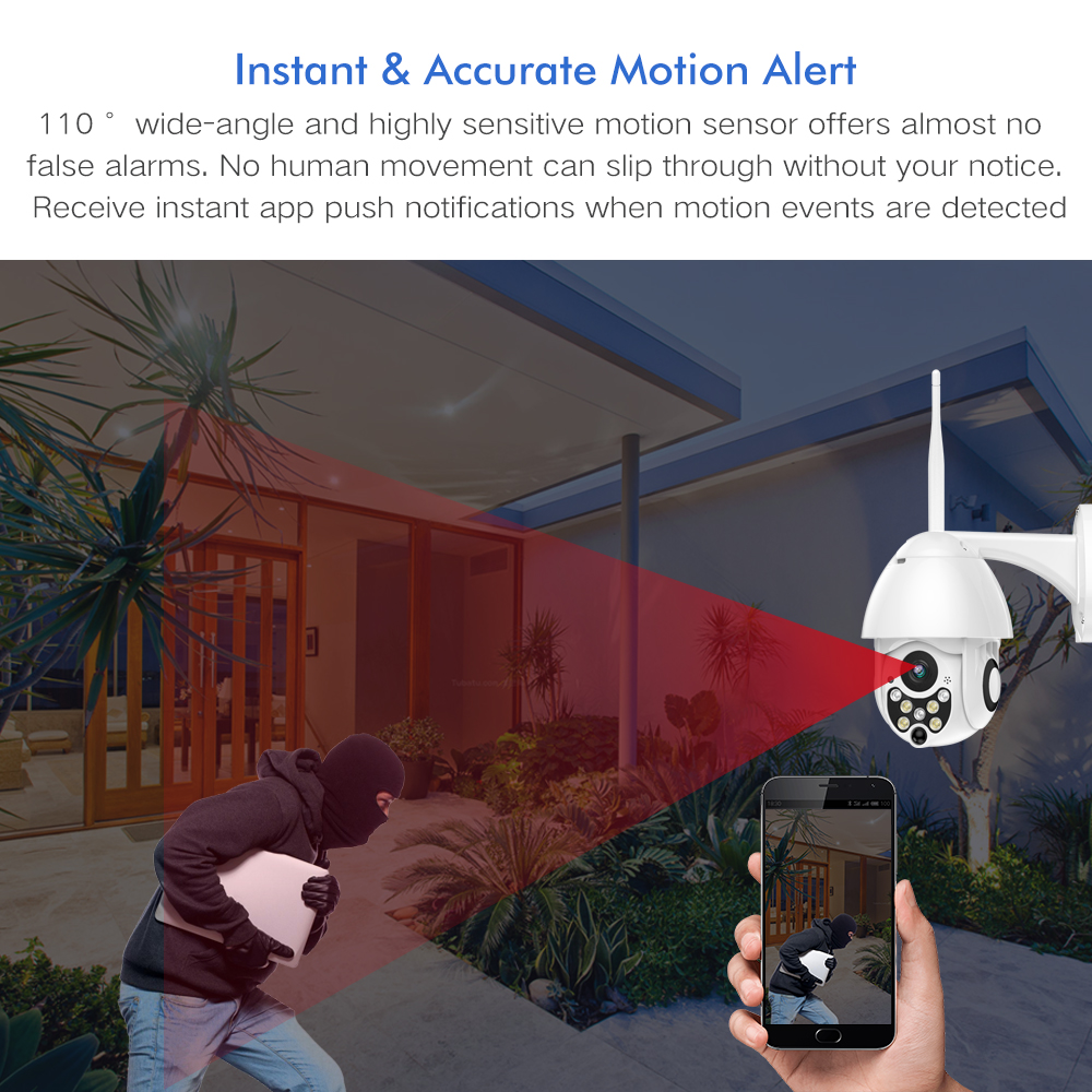 Image 2 - SDETER 1080P PTZ IP Camera Outdoor Speed Dome Wireless Wifi Security Camera Pan Tilt 4X Zoom IR Network CCTV Surveillance 720P-in Surveillance Cameras from Security & Protection