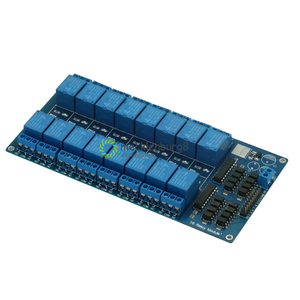 Image 4 - 16 channel 5V Relay Shield Module with anode LM2576 Power for Arduino