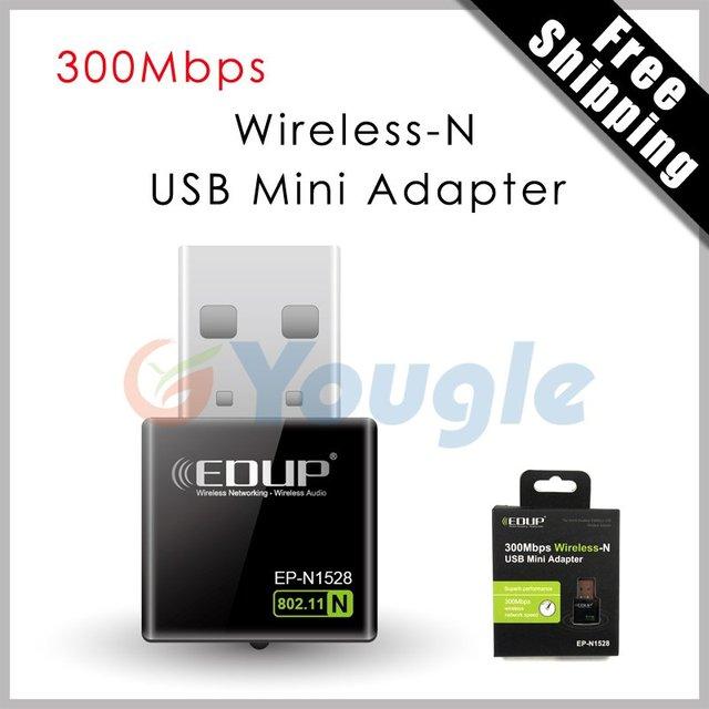 Free Shipping EDUP EP-N1528 300Mbps Wireless WiFi USB Network 802.11n/g/b LAN Adapter Card