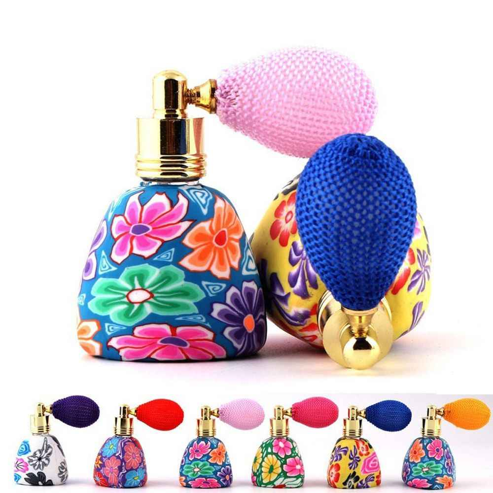 1Pcs Portable Travel Size 15ml Empty Perfume Bottles Polymer Clay Atomizer Spray Fragrance Gasbag Essential Refillable Bottle