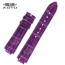 Genuine Leather Watchbands For CARTIER BALLON BLEU DE CARTIER Ladies Watch Band 18 X 11mm Leather Watch Strap Women Bracelet