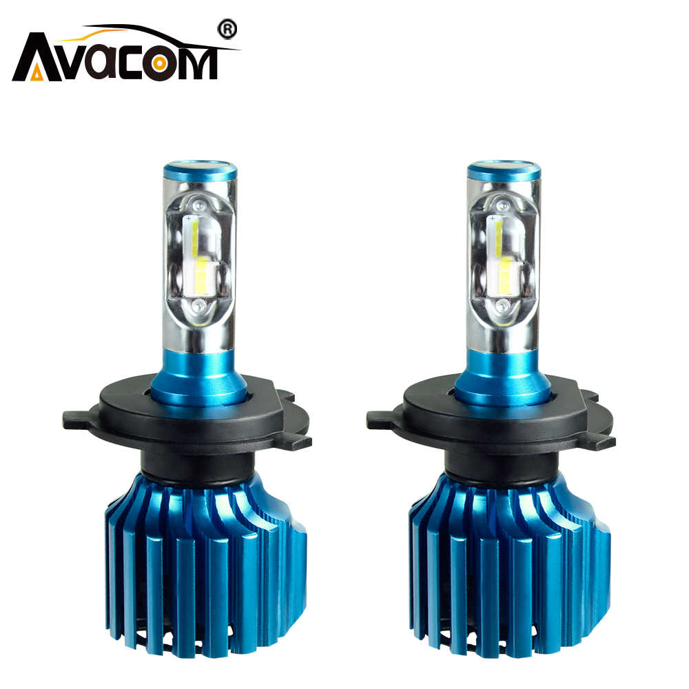 Avacom H4 H7 LED Car Bulb CSP H1 H11/H8 H15 9005/HB3 9006/HB4 Hir2 12V 24V 72W 12000LM 6500K Auto Lamp Turbo Light LED Voiture