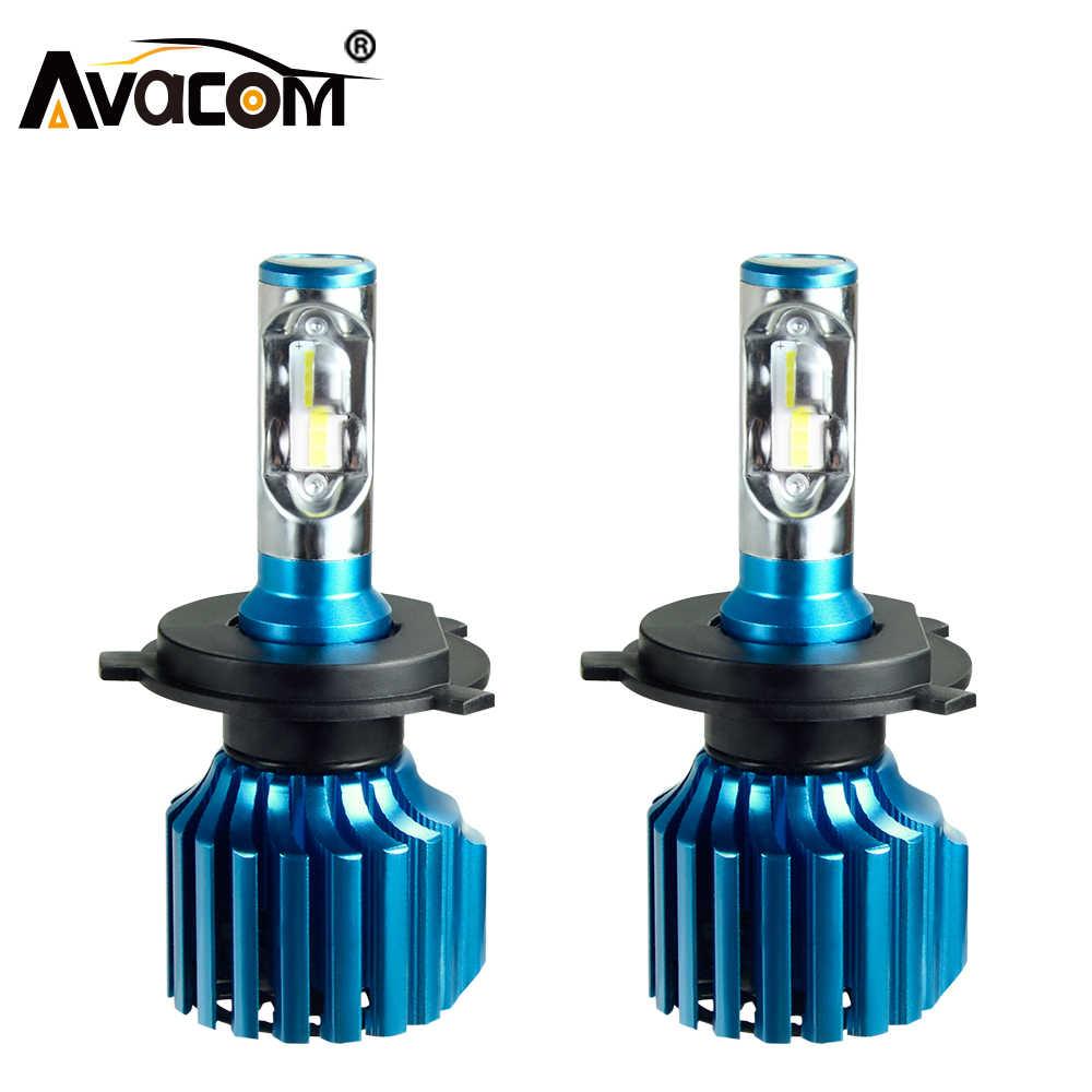 Avacom H4 H7 LED Car Bulb CSP H1 H11/H8 H15 9005/HB3 9006/HB4 Hir2 12V 24V 72W 12000LM 6500K Auto Lamp Turbo Light LED Voiture