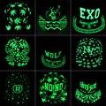 Luminous Graffiti Snapback Caps Hat Men Women Fluorescent Light Hip Hop Hat Noctilucence Baseball Cap Snapback Hat Cap Bone