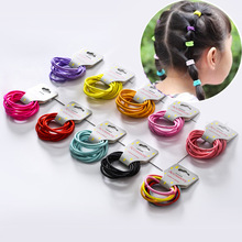 New Fashion12 Colors 10Pcs/Card 3cm Child Rubber Bands Hair Accessories Wholesale Candy Elastics For Girls Kids