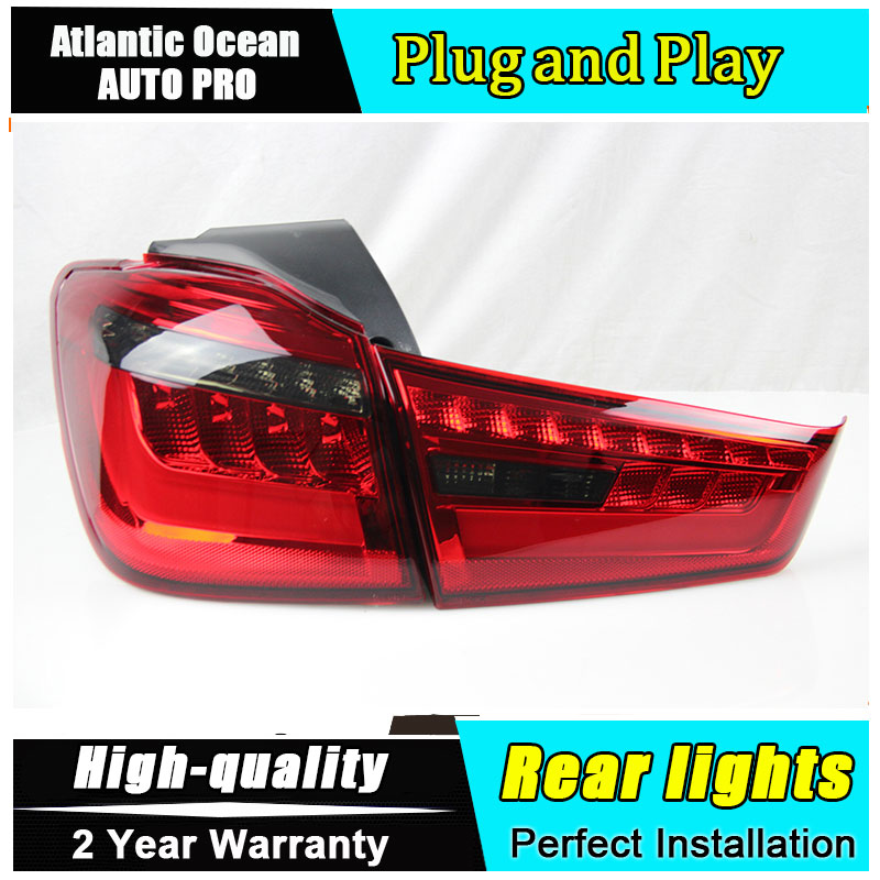 JGRT Car Styling for Mitsubishi ASX Taillights New ASX LED Tail Lamp Outlander EX LED Rear Lamp Fog Light For 1Pair ,4PCS Error jgrt car styling for vw tiguan taillights 2010 2012 tiguan led tail lamp rear lamp led fog light for 1pair 4pcs