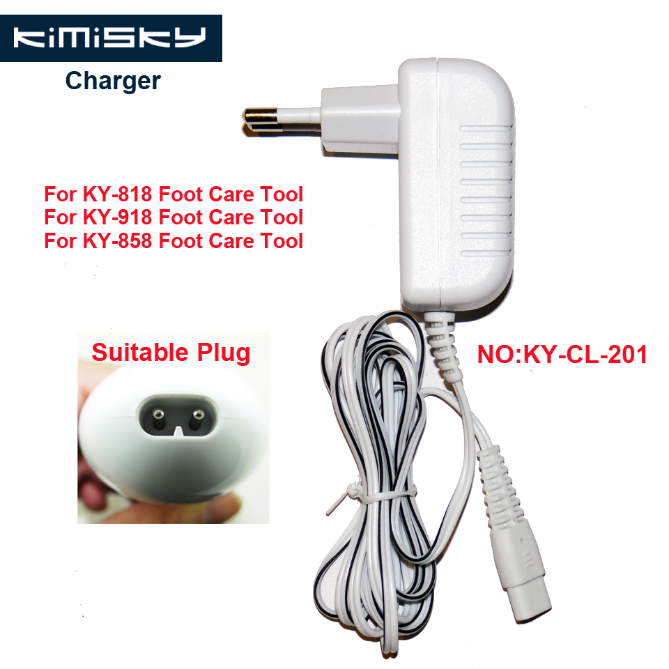 FOR KIMISKY KY-918 KY-818 KY-858 3V 1A foot care tool pedicure tools Charger Suitable Model:KY-CL-201