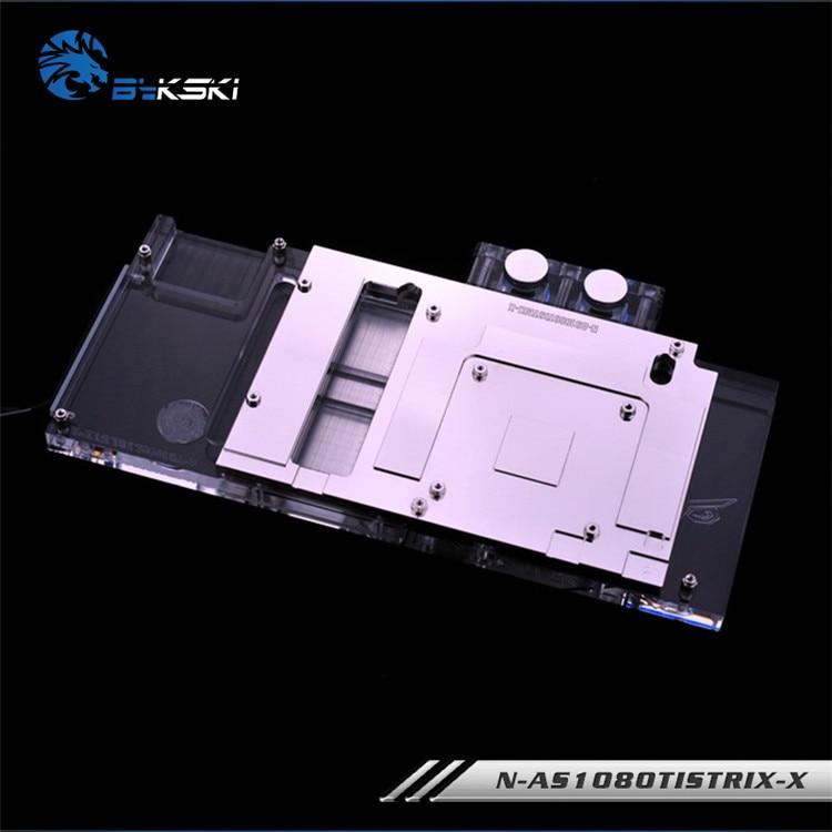 Купить с кэшбэком Bykski Graphics Card Water Block use for ASUS ROG-STRIX-GTX1080TI-O11G-GAMING/1080/1070-O8G-GAMING/1070TI Full Cover Radiator