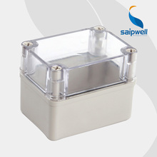 2015 best hot sale ip65 waterproof electrical distribution box with transparent cover 80*110*85mm High quality DS-AT-0811-1