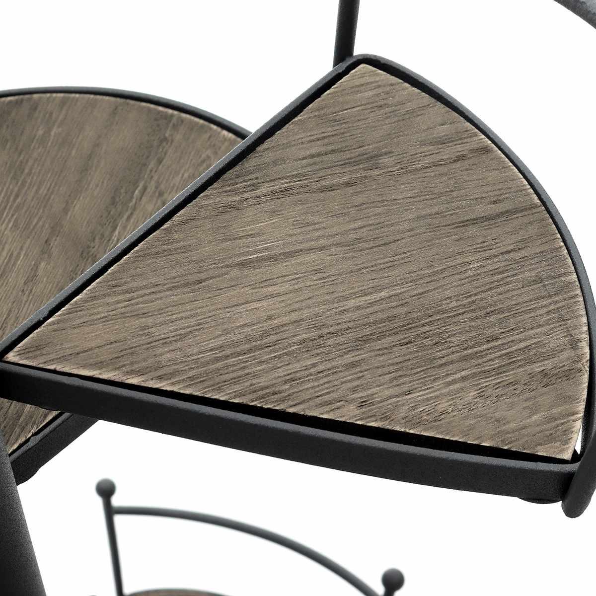 8 слоев лестницы форма железный завод стеллаж металлическая подставка растения суккулент полка настольная Садовый цветок Современная декоративная с деревянной пластиной